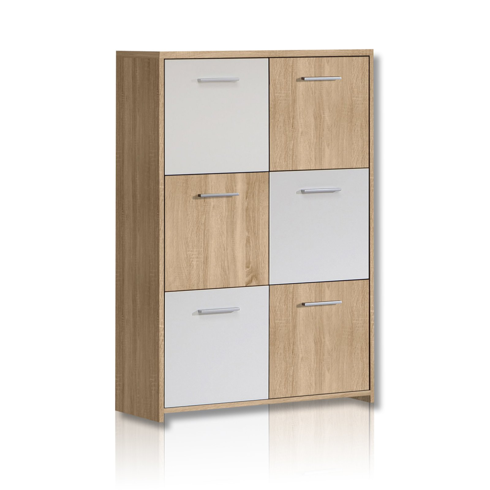 Kommode Quadro Kommode Quadro - Sonoma Eiche-weiß | Kommoden & Sideboards