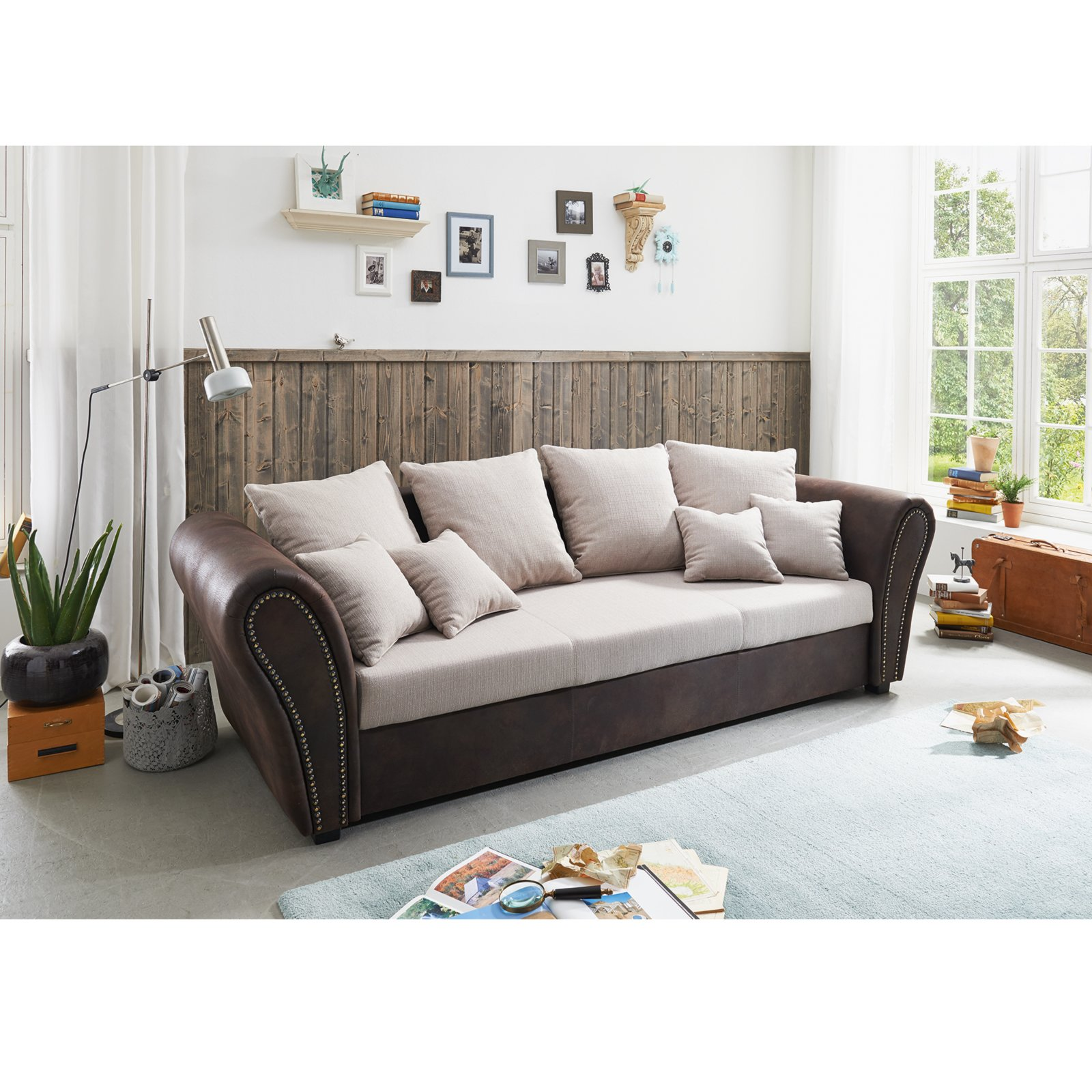Home Affaire Big Sofa Big Sofa Kissen Roller Big Sofa Wei Grau Inklusive Kissen