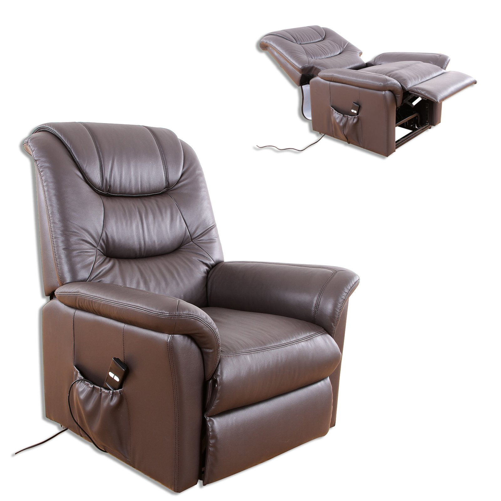 Tv-sessel Relaxsessel Tv Sessel Braun Leder Fernseh And Relaxsessel
