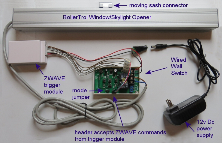 ZWAVE Motor Control For Window Openers