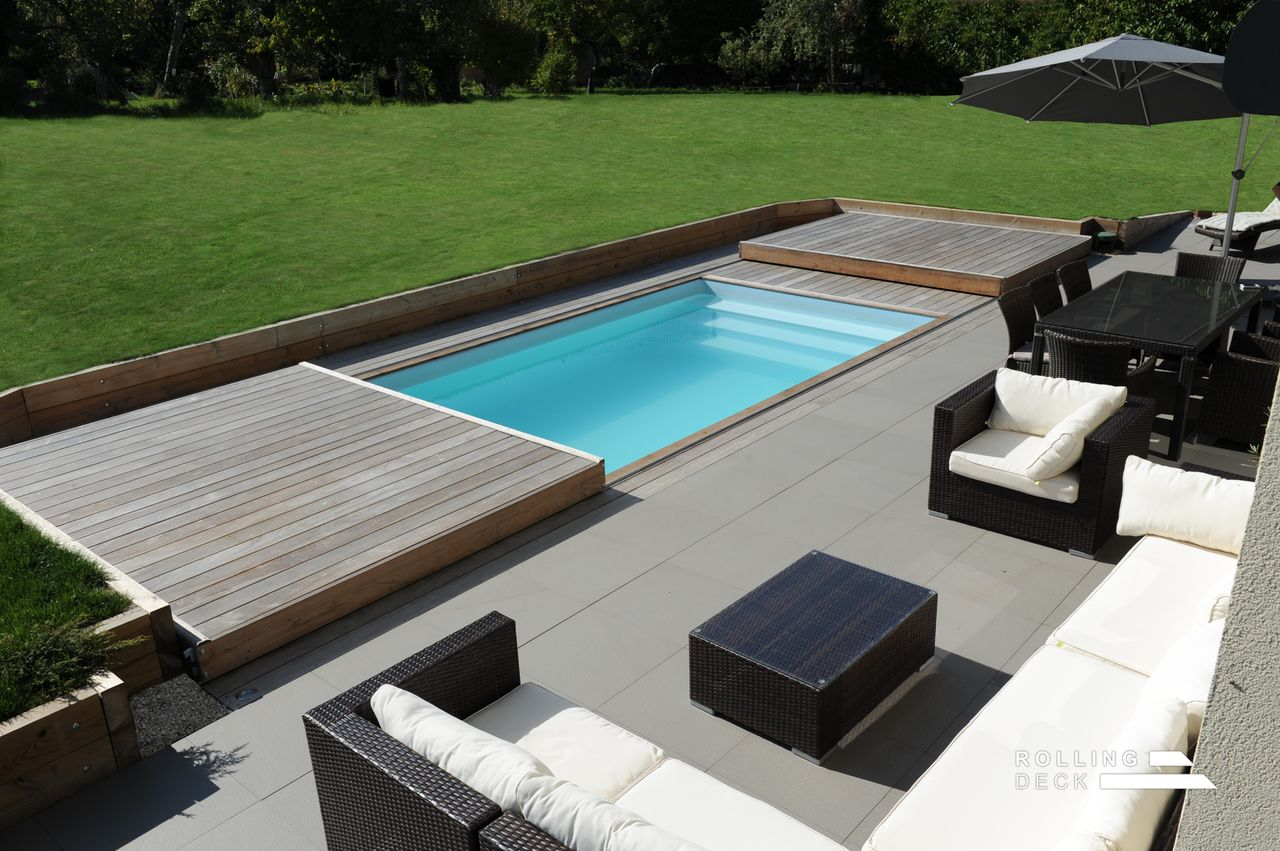 Photo Amenagement Terrasse Piscine Rolling Deck La Couverture Terrasse Mobile De Piscine Et