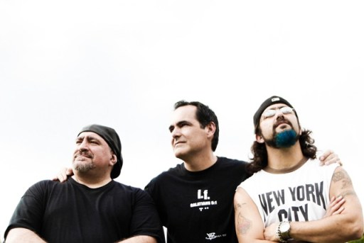 (from left) Randy George, Neal Morse and Mike Portnoy
