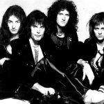 Queen in 1976. Members from left: John Deacon, Freddie Mercury, Brian May, and Roger Taylor. Photo: Courtesy of Electra Records  ©1976