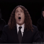 """Weird Al"" Yankovic teamed with Songify to relive the insult-laden third presidential election in the key of Bb minor for ""Bad Hombres, Nasty Women."""