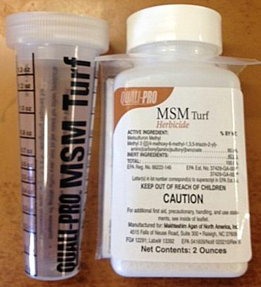 MSM Turf Herbicide Metsulfuron Methyl Bahiagrass, Grassy