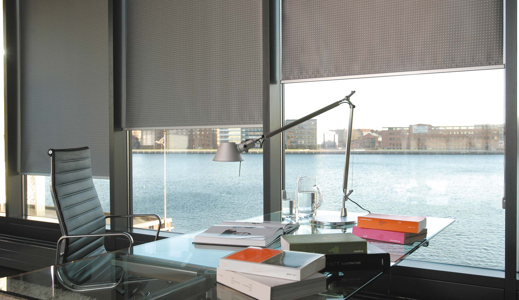 Innenrollos am Fenster vom Hersteller ROLLOS.de