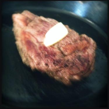 perfect steak with butter