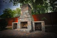 DIY outdoor Fremont fireplace kit makes hardscaping simple ...