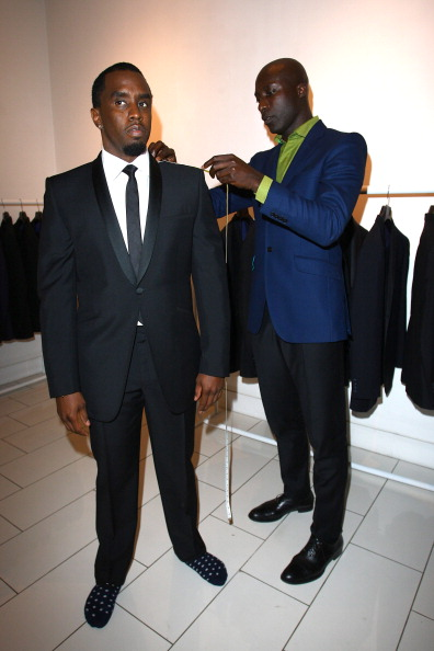 P Diddy Gets Measured For A Suit At Ozwald Boateng On Saville Row
