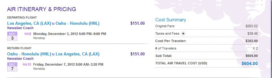 Cheap airfare to hawaii from california this december 2012 you sciox Images