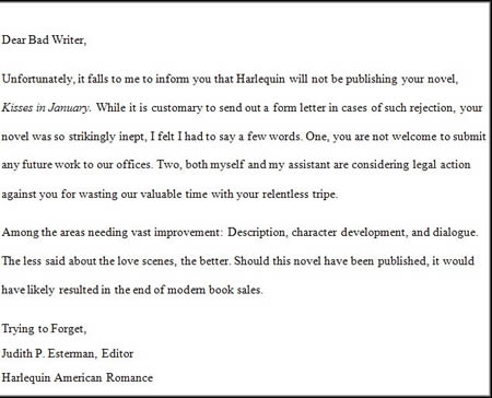 Dealing With the Dreaded Rejection Letter Ronald E Yates