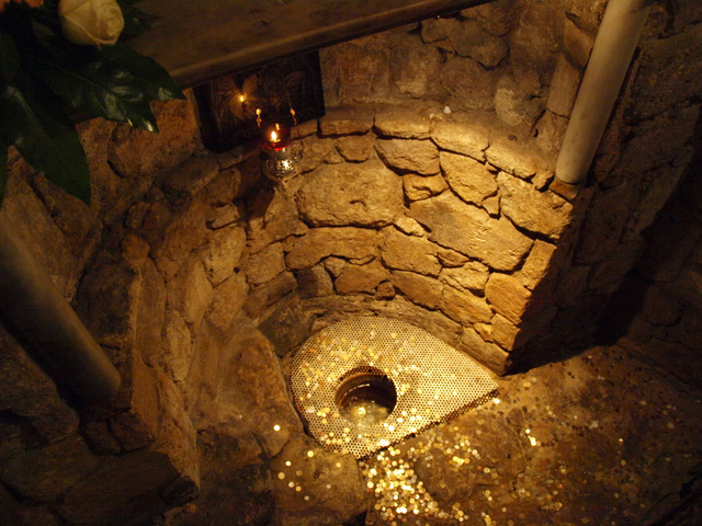 Maryu0027s Well, StGabriel Church, Nazareth But Mary said to the - funeral program background