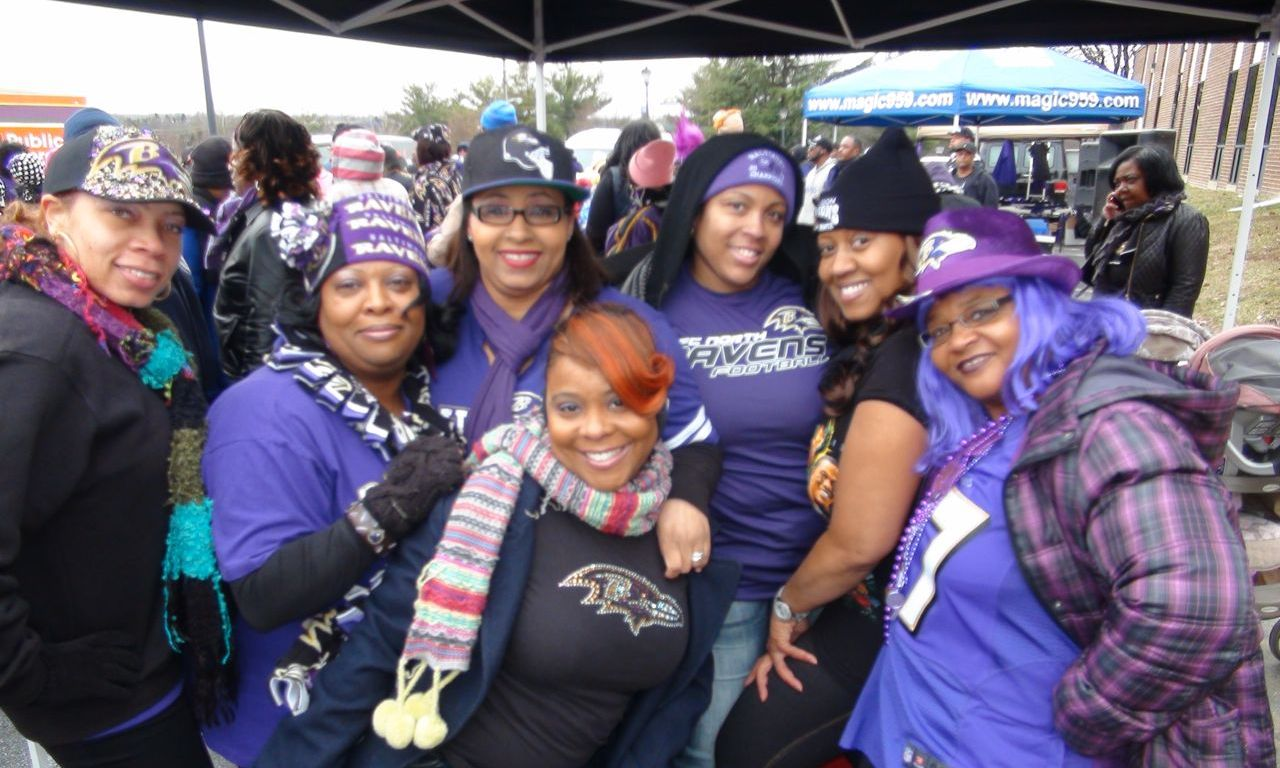Ravens Fans at Pep Rally