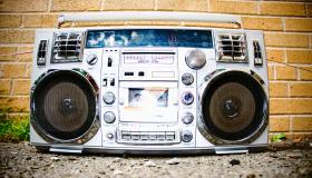 Boom Box in School Yard