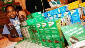 Girl Scouts Kicks Off National Girl Scout Cookie Weekend At Grand Central Terminal