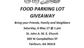 Food Parking Lot Giveaway May 2017