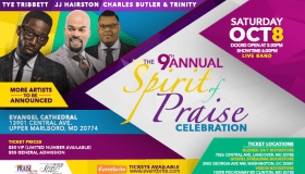 """9th Annual Spirit of Praise Celebration """"Joyful Noise"""" Banner"""