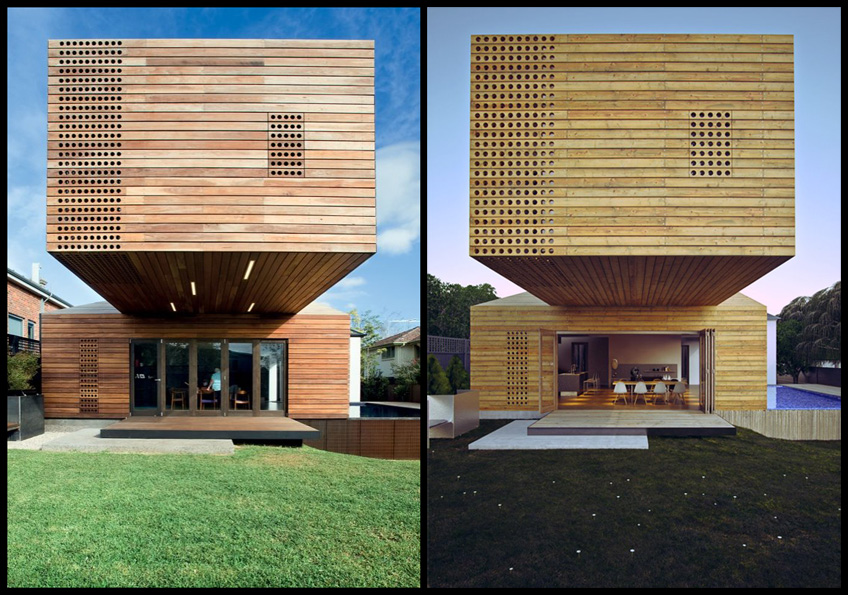 Architektur Rendering Tips Render Vs. Photo / The Trojan House - 3d Architectural
