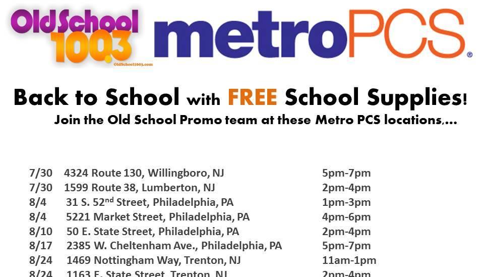 Metro PCS Schedule