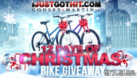 "Local: The Godsey-Martin ""12 Days of Christmas"" Bike Giveaway_Enter-to-win Contest_KBFB_KSOC_RD_Dallas_November 2016"