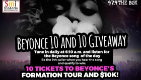 BEYONCE 10 AND 10K GIVEAWAY