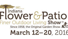 58th Annual Indiana Flower & Patio Show Logo