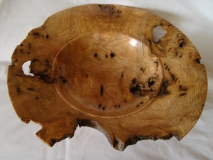 Large cankered ash hand turned bowl