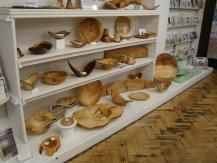 Roni Roberts' woodwork display in Origin