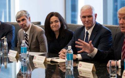 Donald Trump se reúne con los principales líderes de la tecnología