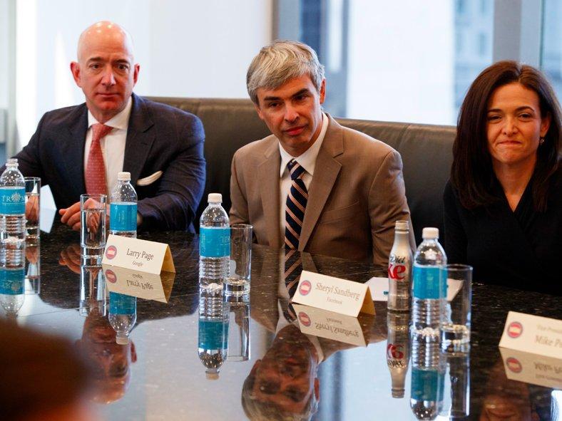 Larry Page y Trump