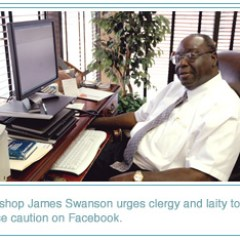 Bishop Swanson speaks about Facebook: Use it but be careful