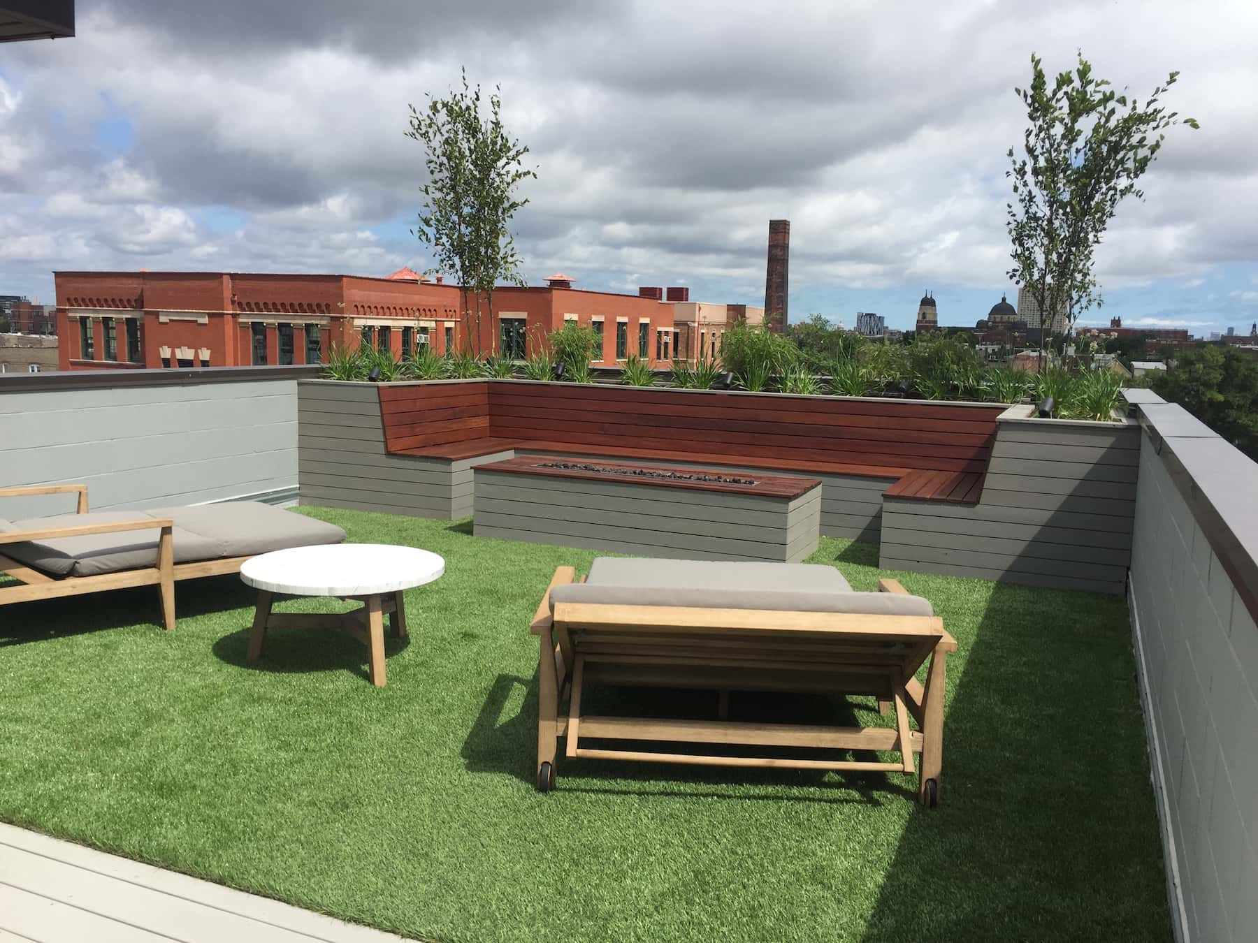 Rooftop Terrace With Built