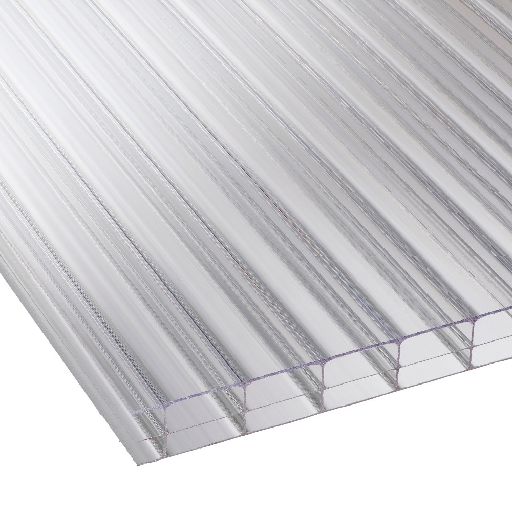 16mm Clear Triplewall Polycarbonate Sheet 610mm Roofing Ventilation - Polycarbonate Sheet