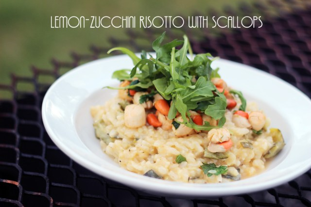 Lemon-zucchini risotto with scallops recipe_named