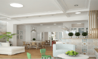 A Creative Concept In Combining Kitchen, Dining Room, And