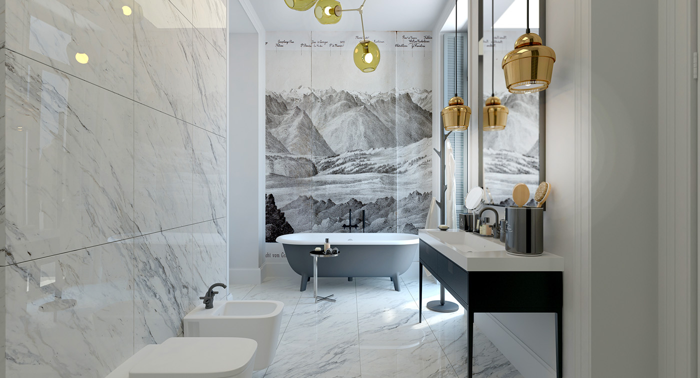 3d Wallpaper Decorating Ideas Elegant Bathroom Decor Ideas Which Show A Classic And