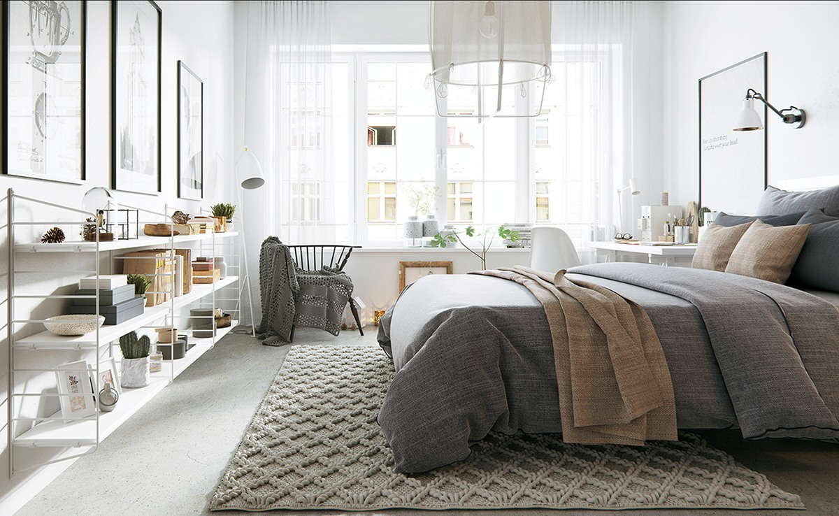 Teppichboden Schlafzimmer Modern The Beauty Of Nordic Apartment Interior Design Style - Roohome