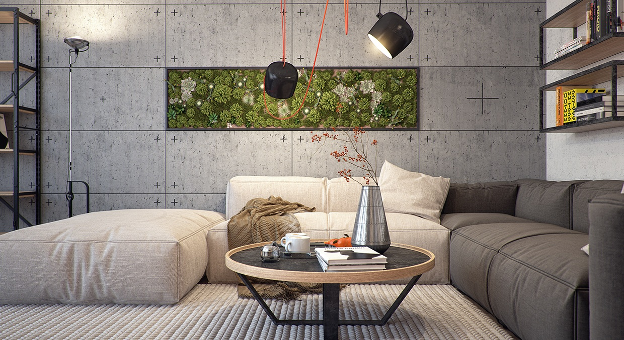 Modern Apartment Design With Several Beautiful Natural