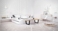 Scandinavian Bedroom Design Dominant With White Color ...