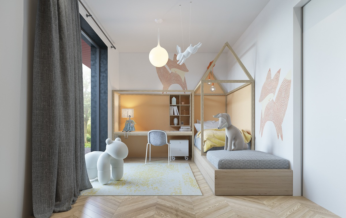 An Awesome Kids Bedroom Ideas With Pastel Color Roohome