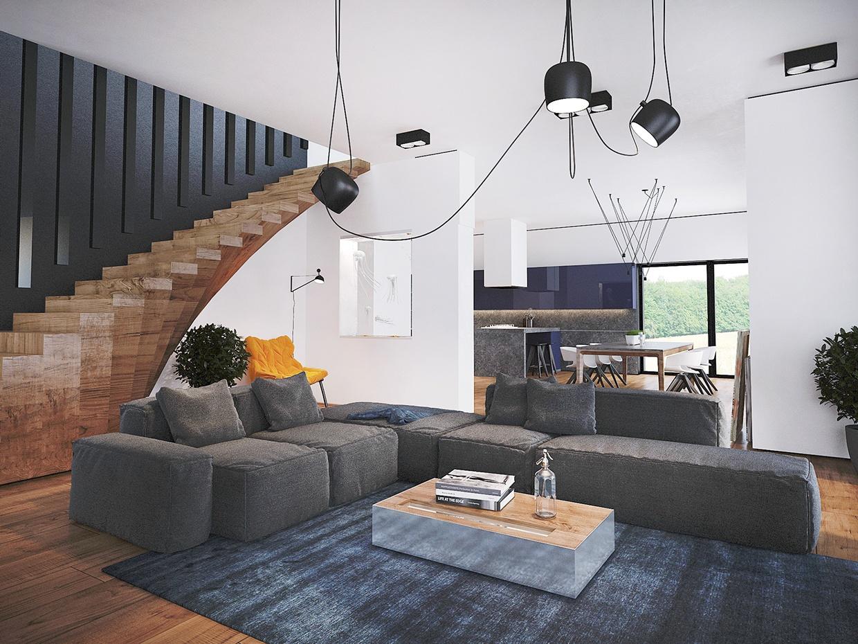 Interior design ideas with super unique staircase as the main design