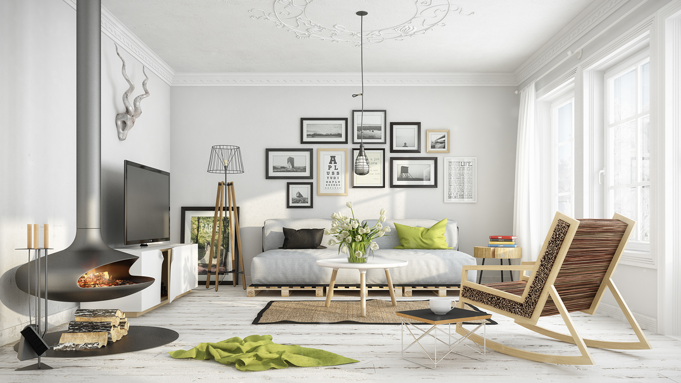 Fascinating Scandinavian Living Room Designs Combined With Wooden Accents Roohome