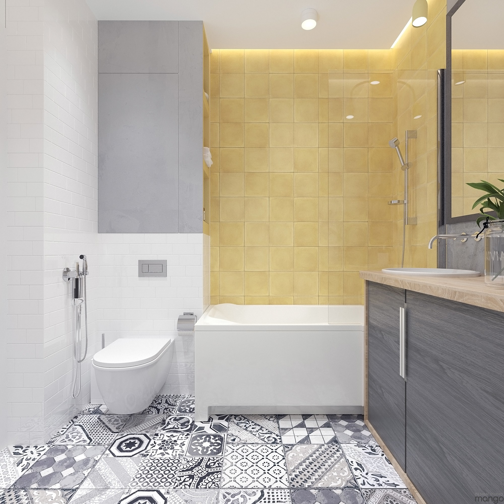 Modern Small Bathroom Designs Combined With Variety Of Tile Backsplash Decor Looks So Modern Roohome