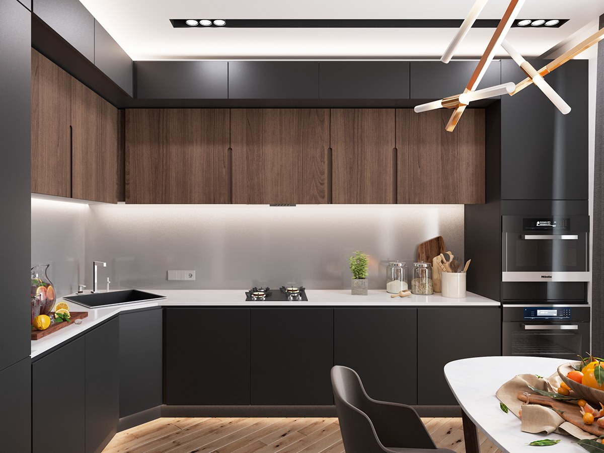 Minimalist Kitchen Design Minimalist Kitchen Designs Decorated With A Wooden Accent