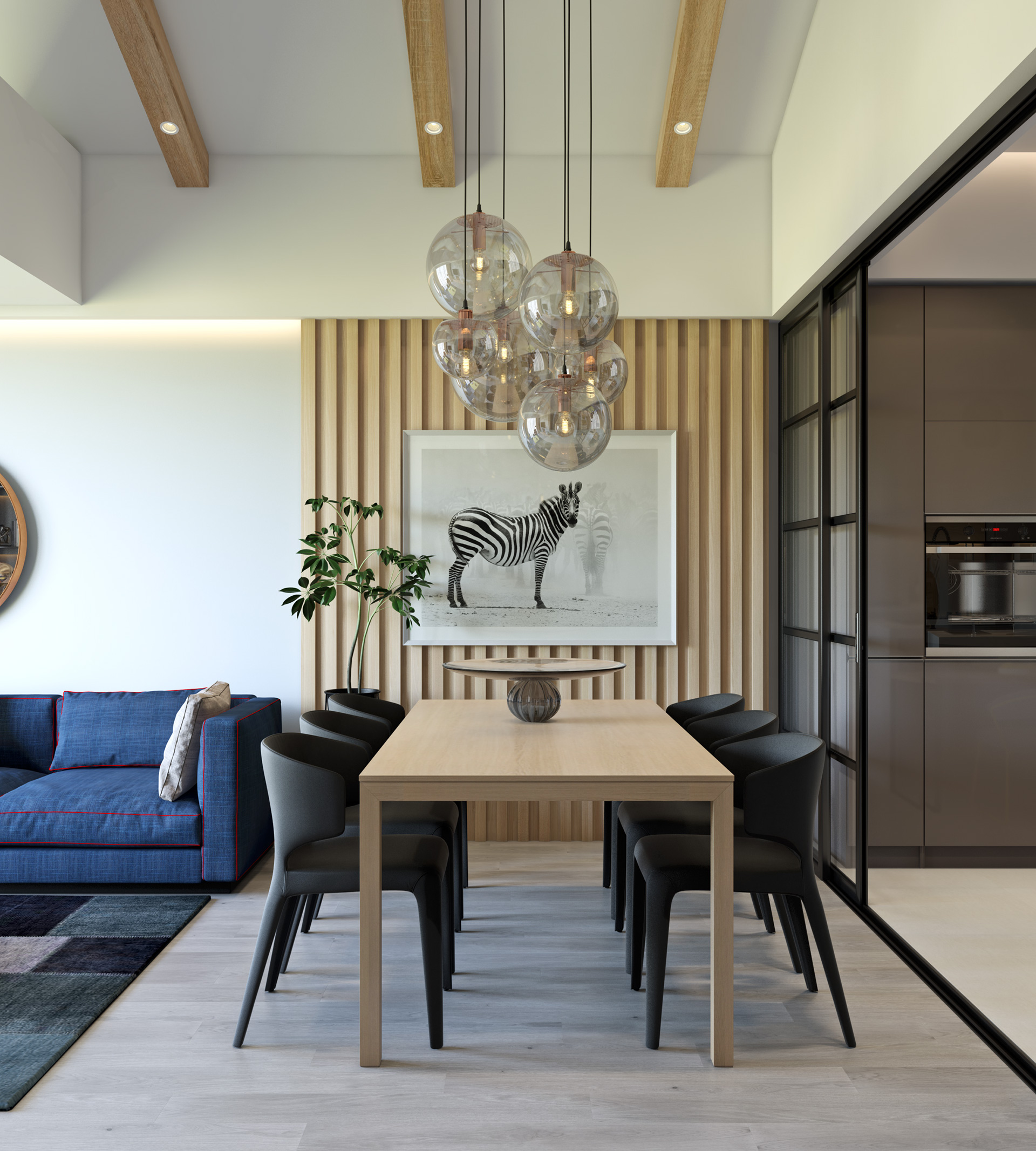Modern Decor Trendy Dining Room Designs Combined With Modern And