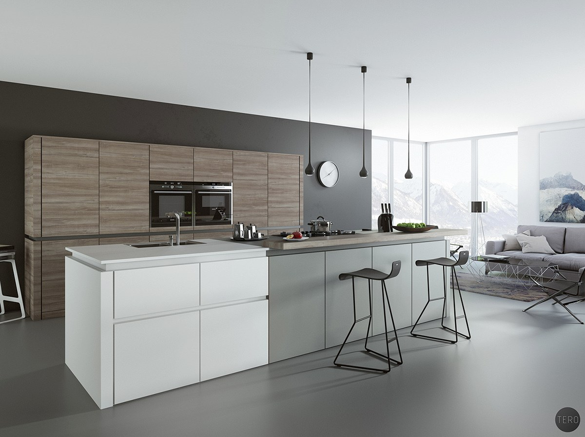 Variety Of Best White Kitchen Designs Arranged With Contemporary And Trendy Decoration Ideas