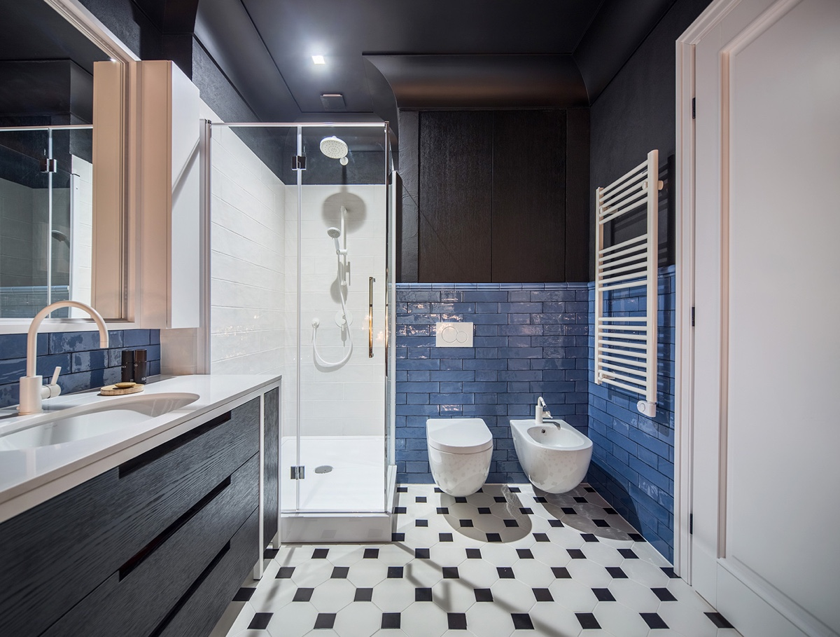 Outstanding Bathroom Designs With Unique And Cute Pattern Tile Design Looks Awful