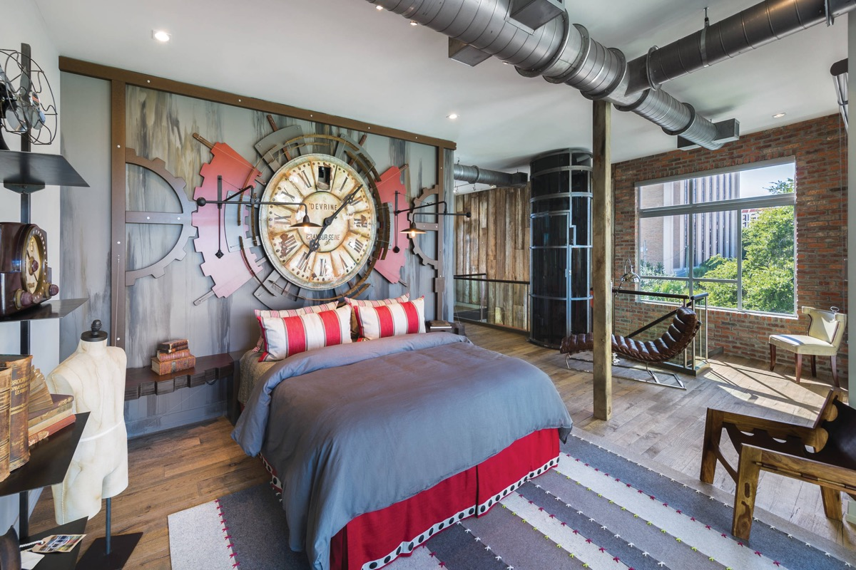 Industrial Style Decor Ideas Trendy Industrial Bedroom Design With Gray And White Color