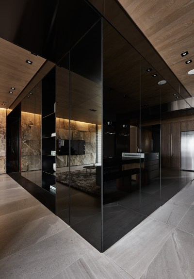 Sophisticated Modern Design Apartment with Dark Color Concept Nuance - RooHome