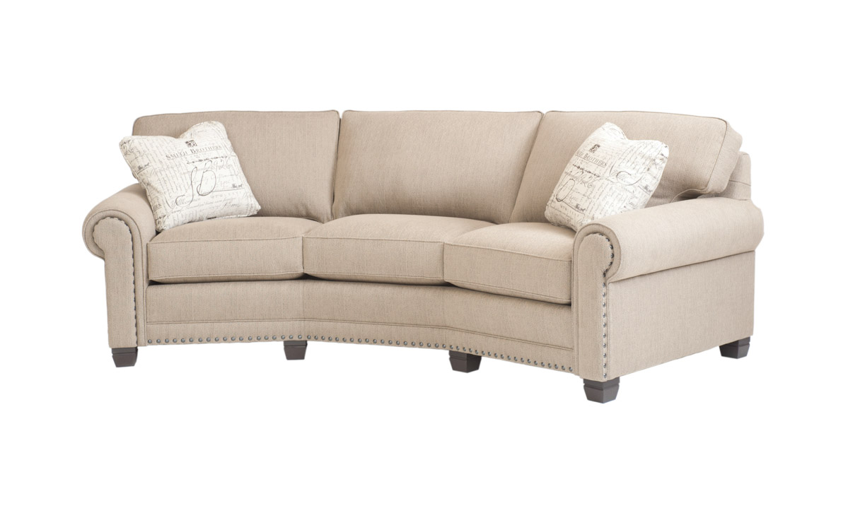 Curved Sectional Sofa Smith 393 Sofa - Room Concepts